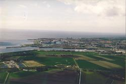 Luchtfoto Buitenhaven en Vlissingen.