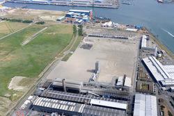 Luchtfoto gedeelte bedrijfsterrein voormalig Zalco en vrijliggende...