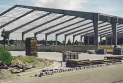 Bouw nieuwe loods bij Verbrugge Terminals aan de Zevenaarhaven. Foto...