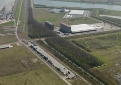 Railterminal van Bertschi op de Mosselbanken in het Valuepark...