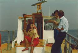 Vaartocht in de Sloehaven (zomer 1984).