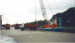 Overslagwerkzaamheden op de Axelse Sassing aan Zijkanaal C.