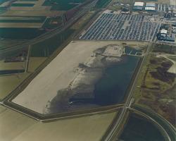 Luchtfoto bouwrijp maken terreinen Cobelfret aan de Ritthemsestraat te...
