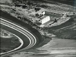 Luchtfoto, begin aanleg Sloehaven te Vlissingen-Oost.