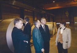 Binnen in de bedrijfsloods van Outokumpu Steel Processing op de Axelse...