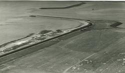 Luchtfoto havenmonding havengebied Vlissingen-Oost.