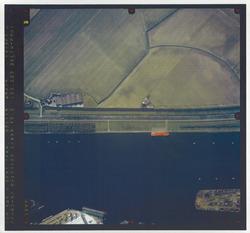 Verticale luchtfoto havengebied Terneuzen. Kanaal ter hoogte van de...