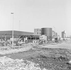 Bouwwerkzaamheden vestiging van Broomchemie aan de Frankrijkweg.