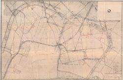 Overzichtsplattegrond behorende bij de luchtfoto's van de boerderijen...
