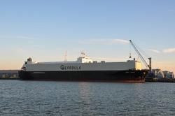 Gearbulk schip Swift Arrow aan de Sloekade bij Verbrugge Terminals.