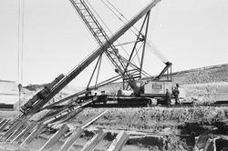 Nieuwbouwwerkzaamheden aan een kade door bouwbedrijf Geka,...