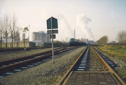 Spoorlijn bij de Nederlande Stikstof Maatschappij (NSM)