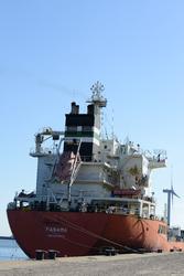 Zeeschip in de haven van Vlissingen.