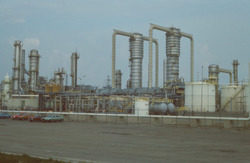 Bedrijfsterrein Dow Chemical.