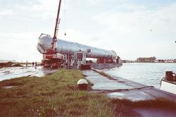 Zwaar transport, waarschijnlijk t.b.v. de Nederlandse Stikstof...