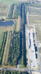 Luchtfoto van de aanleg Calamiteitenweg Dow in de Braakman.