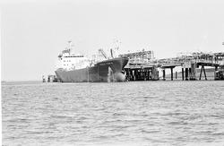 Zeeschip Coral Temse aan de steiger bij Dow Chemical in de...