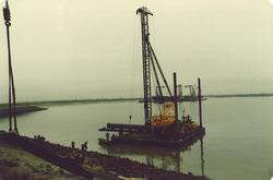 Uitmonding rioolafvoerleiding Denemarkenweg in Quarleshaven.