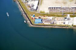 Plangebied vestiging scheepswerf Reimerswaal. Hoek van de Quarleshaven...