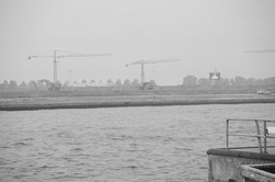 Nieuwbouwwerkzaamheden vestiging van Outokumpu op de Axelse Vlakte.