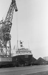 Overslag met drijvende kraan van Ovet in de Zevenaarhaven.