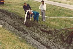 Drainage werkzaamheden Wilhelminahofweg.