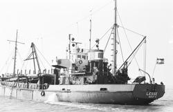 Baggerschip Lesse van Baggerbedrijf De Boer in de Braakmanhaven.