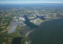 Overzichtsfoto havengebied Vlissingen-Oost.