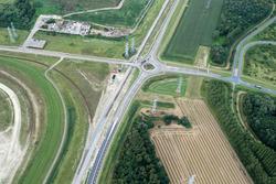Luchtfoto kruising Europaweg-Oost / Frankrijkweg te Vlissingen-Oost.