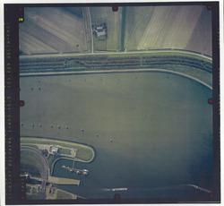Verticale luchtfoto havengebied Terneuzen. Buitenhaven bij de...