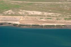 Luchtfoto van Vlissingen-Oost van het te ontwikkelen terrein voor...