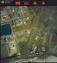 Luchtfoto Vlissingen-Oost, omgeving Total.