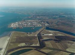 Luchtfoto logistiek park Braakmanpolder, Braakmanhaven, Mosselbanken...