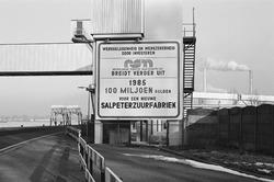 Informatiebord over de uitbreiding van de Nederlandse Stikstof...
