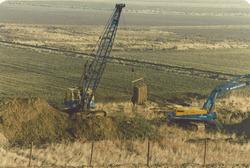 Voorbereiding zandstort Zuid-Kraaijertpolder.