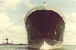 """LPG schip """"Gas Enterprise"""" aan boeien Sloehaven."""
