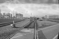 Spoorlijnen in de Koegorspolder naar het terrein van de Nederlandse...