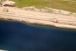 Luchtfoto van de werkzaamheden van de uitbreiding van de Scaldiahaven,...