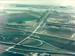 Luchtfoto van de Frankrijkweg te Vlissingen-Oost.