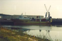 Schip van Star Line in de Bijleveldhaven.
