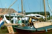 Werf van Duivendijk, diverse schepen aan de werf.