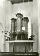 Kerk Interieur van de NH Kerk met orgel.