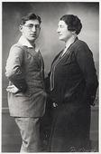 Tweede Wereldoorlog. Joden. Eric Hertz en zijn moeder Klara Hertz - Dahl