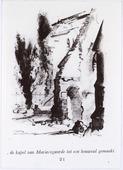 Tweede Wereldoorlog. Bommen. Op vrijdag 2 februari 1945, het feest van Maria Lichtmis, werd de kapel van Mariëngaarde tijdens de mis van half negen getroffen door een V 1. Er       vielen hierbij 27 slachtoffers, onder wie mgr. Sweens, die de dienst leidde