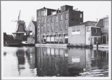 Zaandijk Achterzaan Achterzijde molen en woningen aan de Lagedijk v l n r molen …