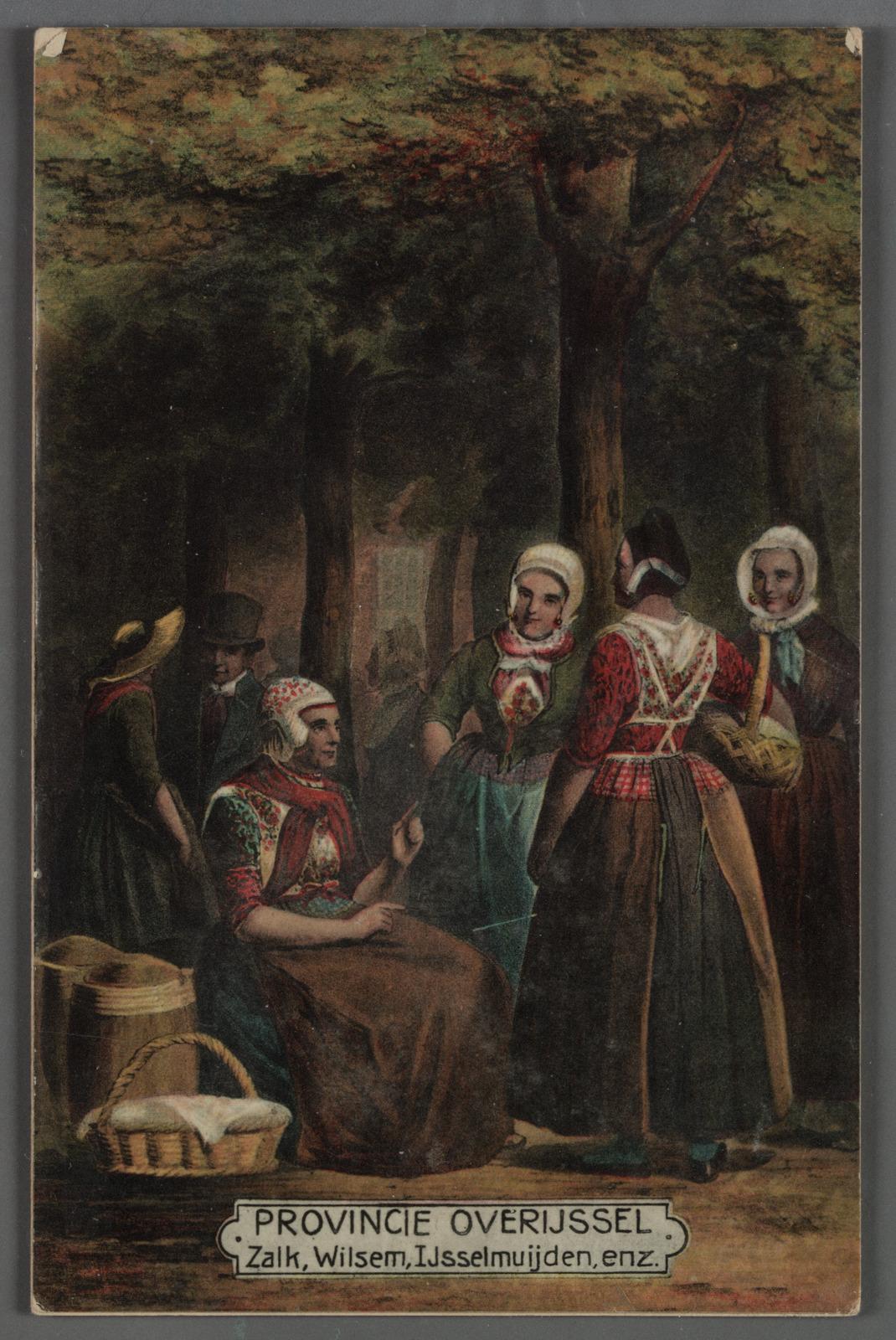 PROVINCIE OVERIJSSEL. Zalk, Wilsem, IJsselmuiden, enz. Vrouwen in dracht