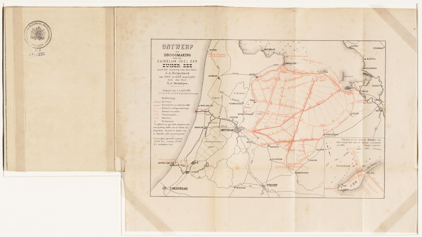 Droogmaking van een gedeelte der Zuiderzee, brochure