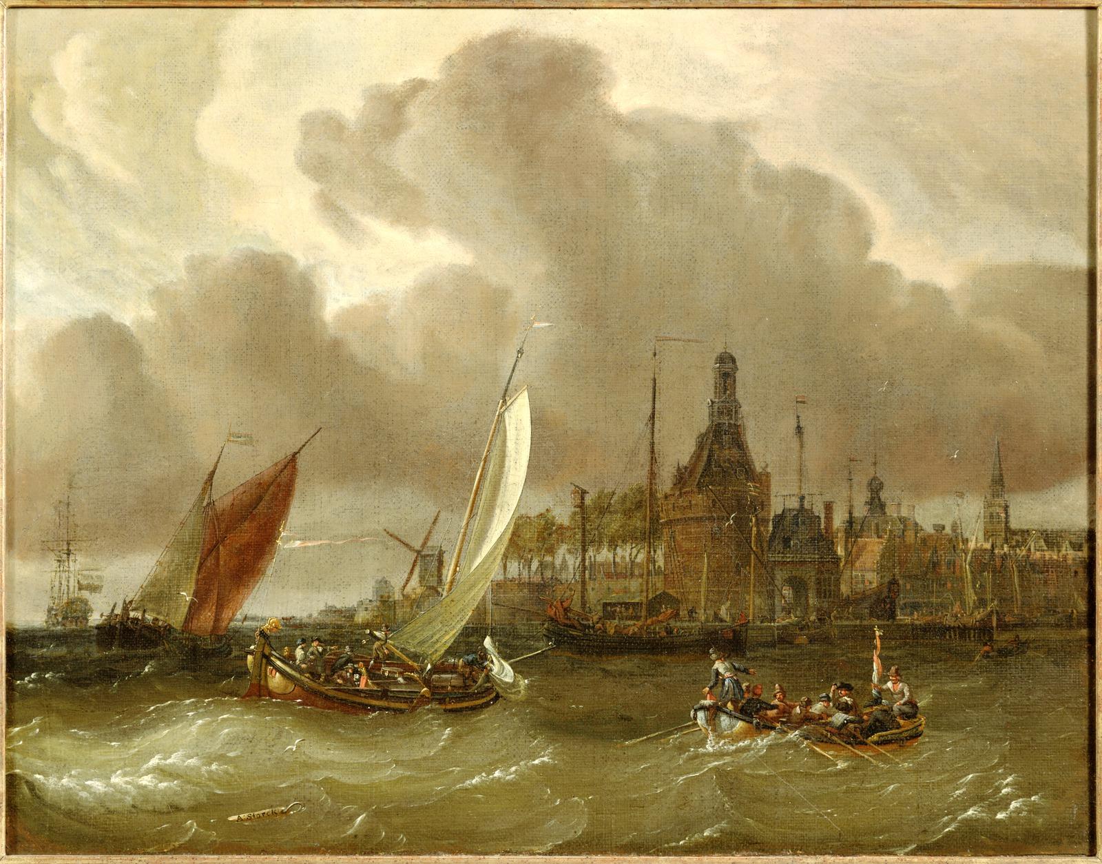 Gezicht op de stad en haven van Hoorn