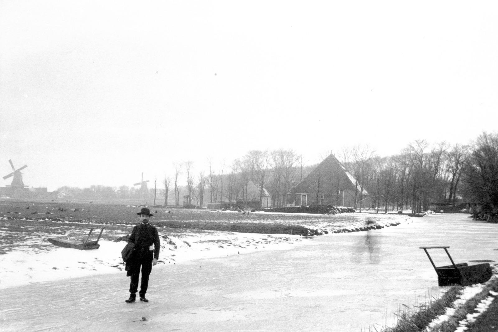 August Hanicotte op het ijs.