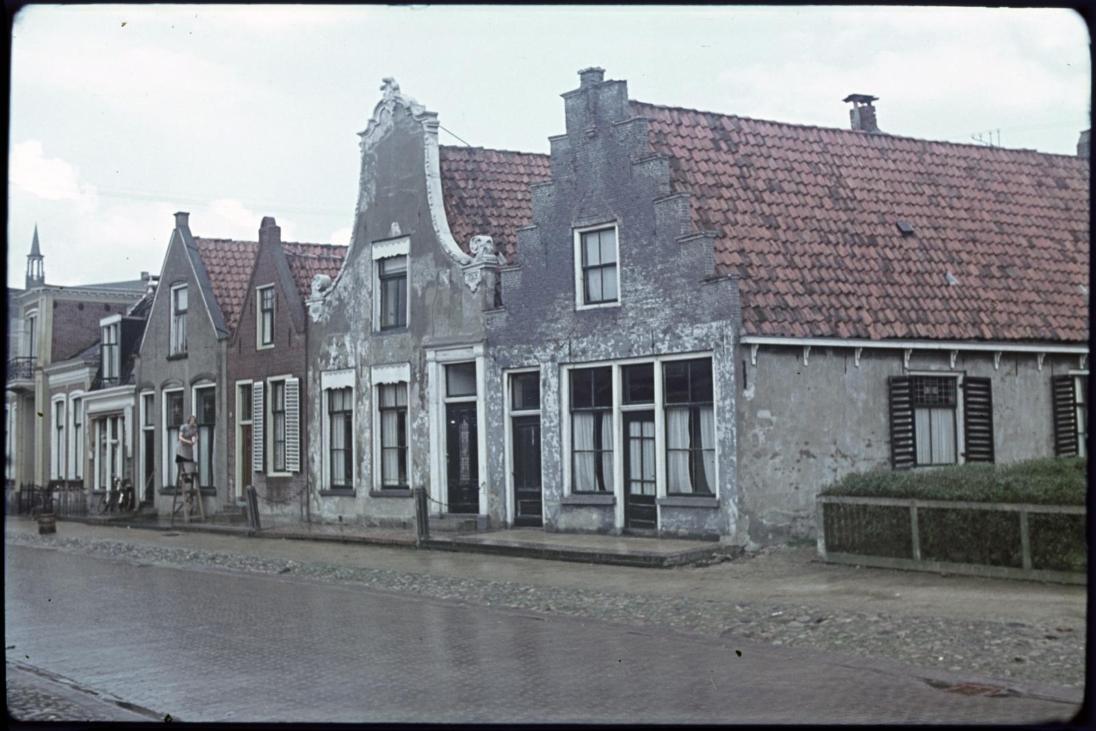 Oude gevels van woningen
